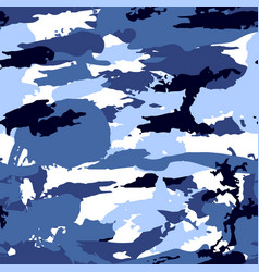 blue camouflage equipment seamless pattern vector image vector image