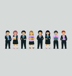 children in business suit vector image vector image