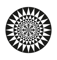 Circle of abstract isolated vector