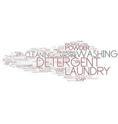 detergent word cloud concept vector image