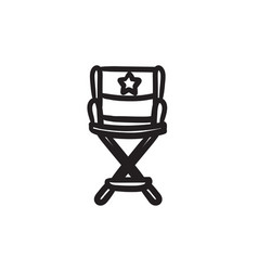 Director chair sketch icon vector