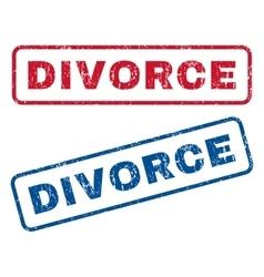 Divorce rubber stamps vector