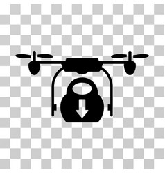drone drop cargo icon vector image