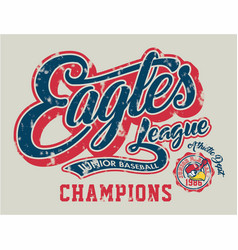 eagles junior baseball vector image