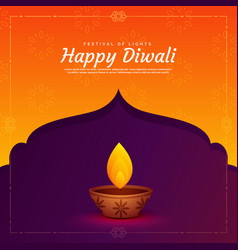 Ethnic religious diwali festival background with vector