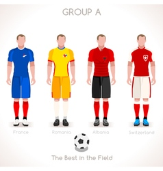 Euro 2016 group a championship vector
