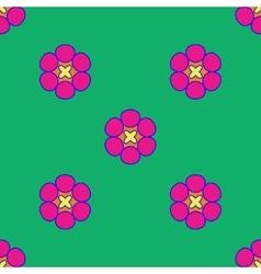 Flowers geometric seamless pattern 204 vector image vector image