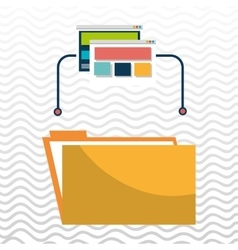 folder file web page vector image