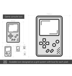 Game console line icon vector