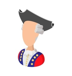 George washington costume cartoon icon vector