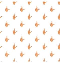 Gesture idea pattern cartoon style vector