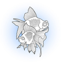 graphic telescope fish vector image vector image