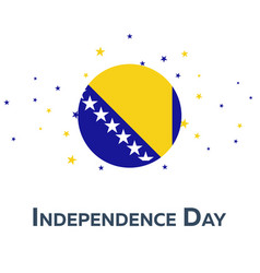 Independence day of bosnia and herzegovina vector