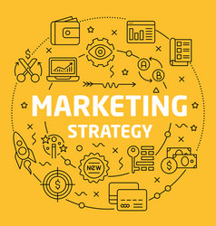 linear marketing strategy vector image vector image