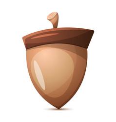 nuts cartoon healthy food vector image vector image