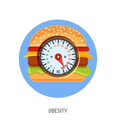 Obesity and overweight concept vector