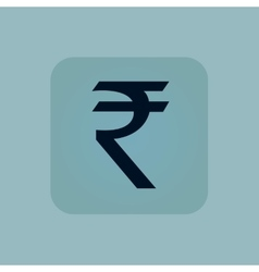 Pale blue rupee icon vector