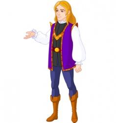 prince charming vector image vector image