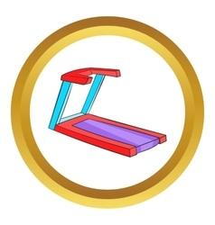 Professional treadmill icon vector