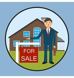 Real estate broker cottage for sale vector