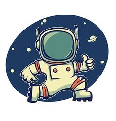 retro astronaut vector image