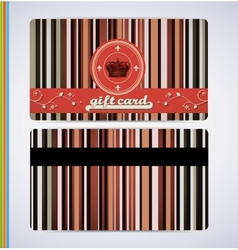Retro Gift Card vector image vector image