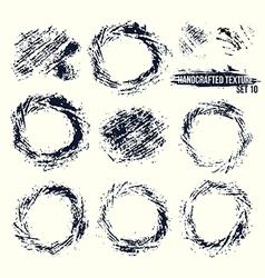 Set of handcrafted textures vector