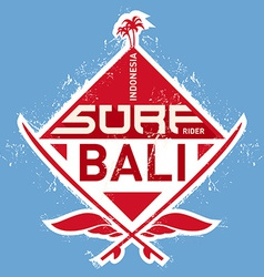 Surf tee vintage design vector