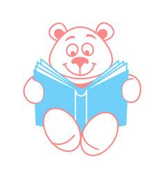 Teddy bear with a book vector