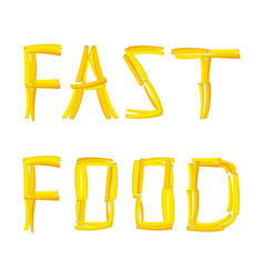 text fast food with french vector image vector image