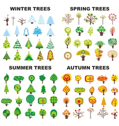 Tree Season Set vector image vector image
