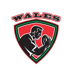 wales rugby shield vector image