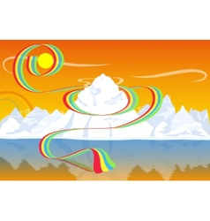 White mountains vector