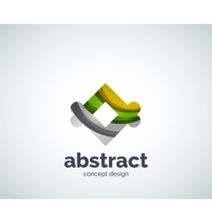Abstruse shape logo template vector
