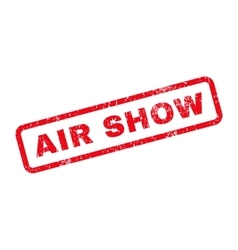 Air show text rubber stamp vector