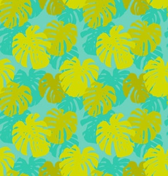 Seamless pattern with monstera leafs vector