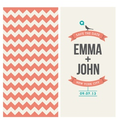 Wedding invitation background chevron vector