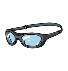 Glasses for swimming icon in cartoon style vector image