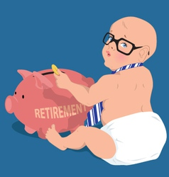 Saving for retirement vector