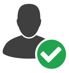 Valid user flat icon vector