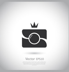 Camera icon in trendy flat style isolated on grey vector