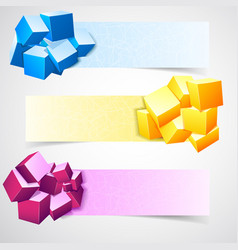 Abstract banner set vector