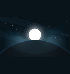 moon landscape star and mountain vector image