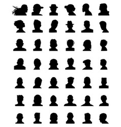 Silhouettes of avatars vector
