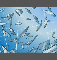 glass fragments vector image