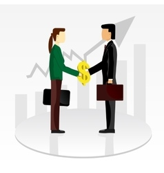 Business shaking hands vector