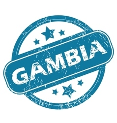 Gambia round stamp vector