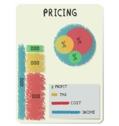 Pricing infographic vector