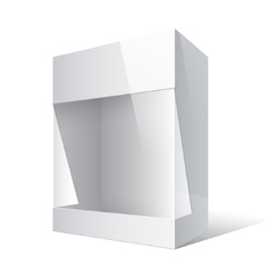 Realistic Package Box with a transparent window vector image