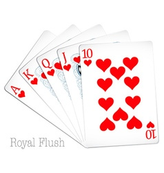 Royal flush vector
